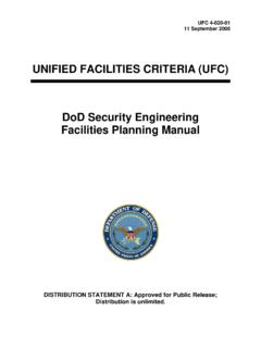 UFC 4-020-01 DoD Security Engineering Facilities Planning ...