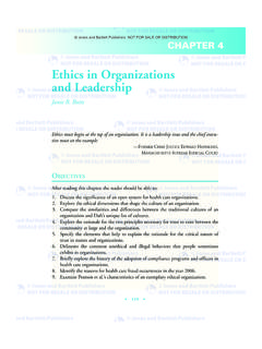 Ethics in Organizations and Leadership
