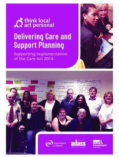 Delivering Care and Support Planning - Think Local Act ...