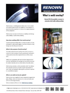 What is weld overlay? - Renown Oil and Gas