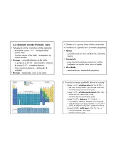 2.6 Elements and the Periodic Table • Elements in a group ...