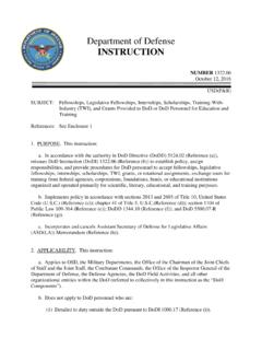 Department of Defense INSTRUCTION - esd.whs.mil