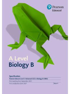A Level Biology B - qualifications.pearson.com