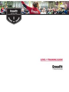 LEVEL 1 TRAINING GUIDE - CrossFit