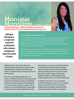 Monique Montigny, - Foundations Recovery Network
