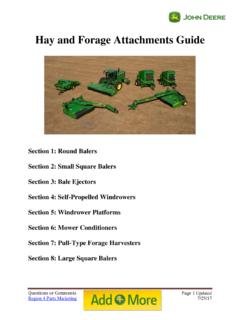 Hay and Forage Attachments Guide - John Deere