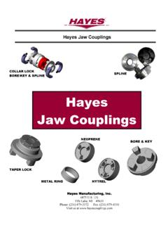 Hayes Jaw Couplings