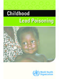 Childhood Lead Poisoning - World Health …