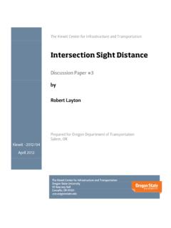 Intersection Sight Distance - cce.oregonstate.edu