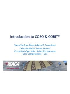 Introduction to COSO & COBIT® - ISACA