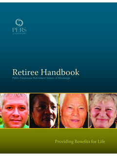 Retiree Handbook - Mississippi