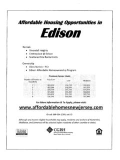 Affordable Housing - Edison