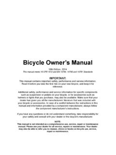 Bicycle Owner's Manual - Surly Bikes