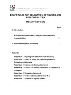 DRAFT RULES FOR DELEGATION OF POWERS AND …