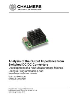 Analysis of the Output Impedance from Switched DC/DC …