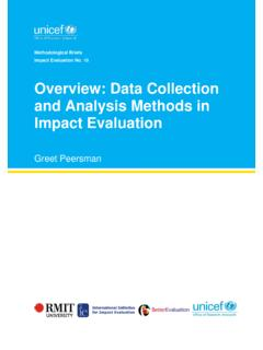 Overview: Data Collection and Analysis Methods in Impact ...