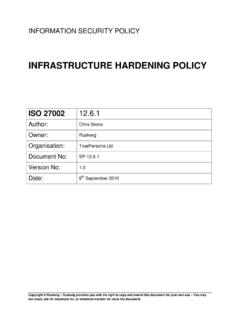 INFRASTRUCTURE HARDENING POLICY - RUSKWIG