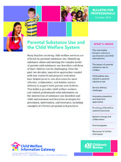 Parental Substance Use and the Child Welfare System