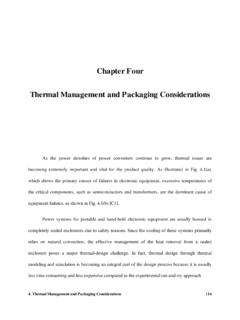 Chapter 4 - Thermal Management and Packing …