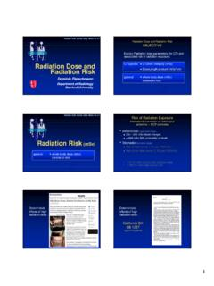 Radiation Dose and Radiation Risk - Stanford Medicine