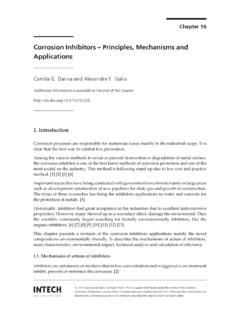 Corrosion Inhibitors Principles, Mechanisms and Applications