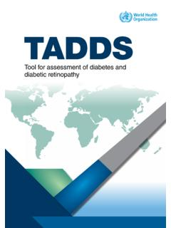 Tool for assessment of diabetes and diabetic …