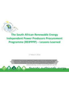 The South African Renewable Energy Independent …