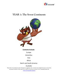 YEAR 1: The Seven Continents - Core Knowledge UK