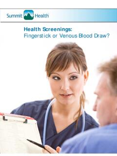 Health Screenings: Fingerstick or Venous Blood Draw?