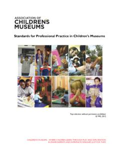 Professional Practices in Children's Museums