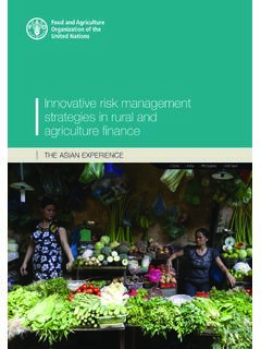 Innovative risk management strategies in rural and ...