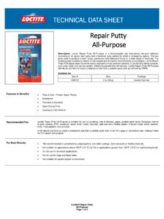 Repair Putty All-Purpose - Loctite Products