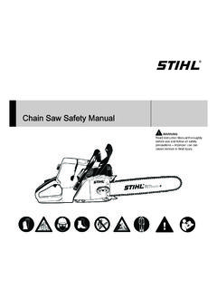 Chainsaw Safety Manual - STIHL