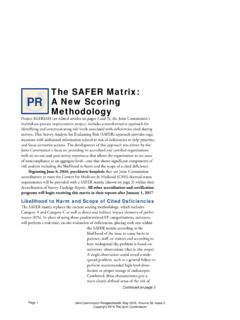 The SAFER Matrix: A New Scoring Methodology