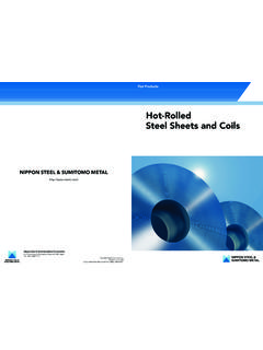 Hot-Rolled Steel Sheets and Coils