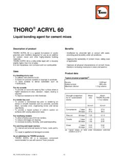 PE THORO ACRYL 60 - World of THORO®: Home