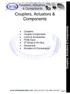 Couplers, Actuators & Components - wholesaletrailer.com