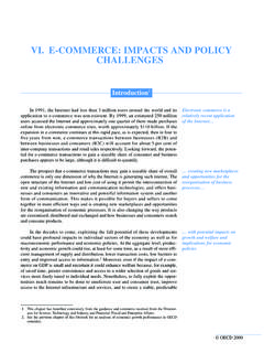 VI. E-COMMERCE: IMPACTS AND POLICY CHALLENGES