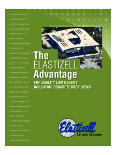 The ELASTIZELL Advantage - Cellular Lightweight Concrete ...