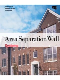 USG Area Separation Wall Systems Brochure …