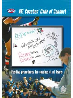AFL Coaches' Code of Conduct