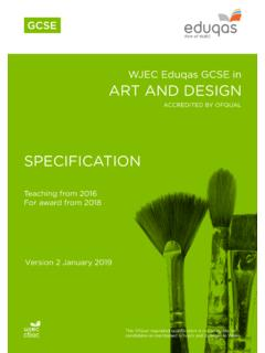 WJEC Eduqas GCSE in ART AND DESIGN