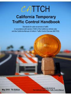 California Temporary Traffic Control Handbook