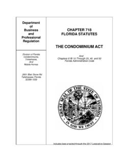THE CONDOMINIUM ACT - Florida Department of …