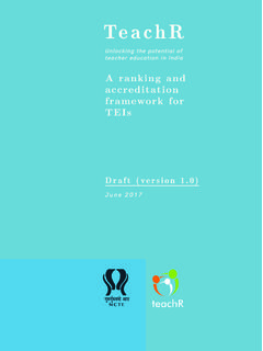 A ranking and accreditation framework for TEIs - NCTE