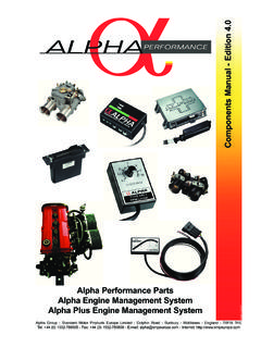 Alpha Performance Parts Alpha Engine Management …