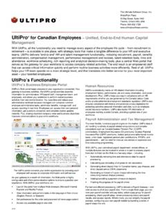 UltiPro for Canadian Employees - ultiproweb.net
