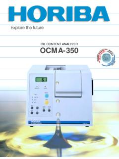 OIL CONTENT ANALYZER OCMA-350 - Horiba
