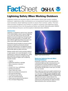 Lightning Safety When Working Outdoors