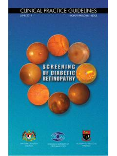 SCREENING OF DIABETIC RETINOPATHY - …